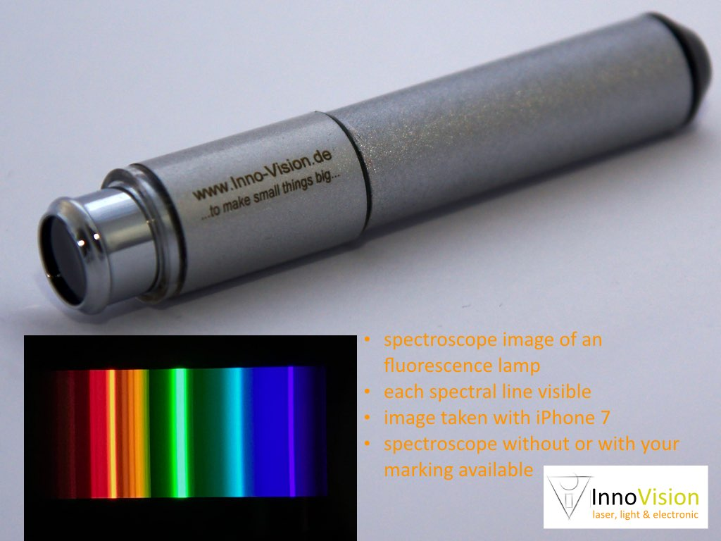Imaging pocket spectroscope